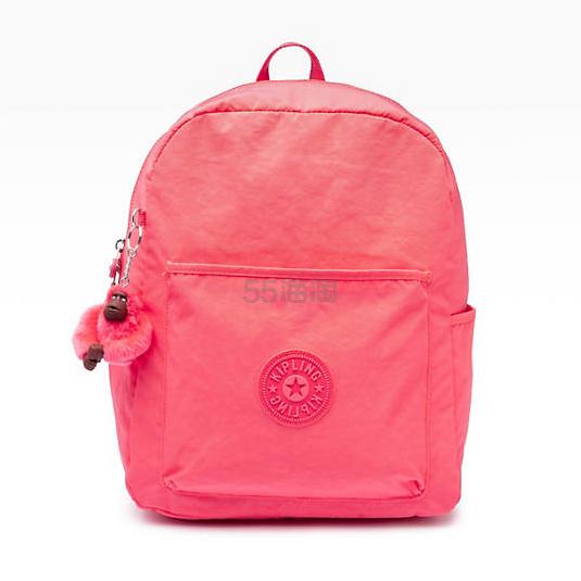 超便宜!Kipling BENNETT 桃红色双肩包 .49(约260元) - 海淘优惠海淘折扣|55海淘网