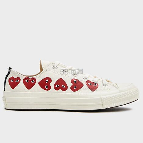 Comme des Garçons Play 女款多心帆布鞋 5(约929元) - 海淘优惠海淘折扣 55海淘网