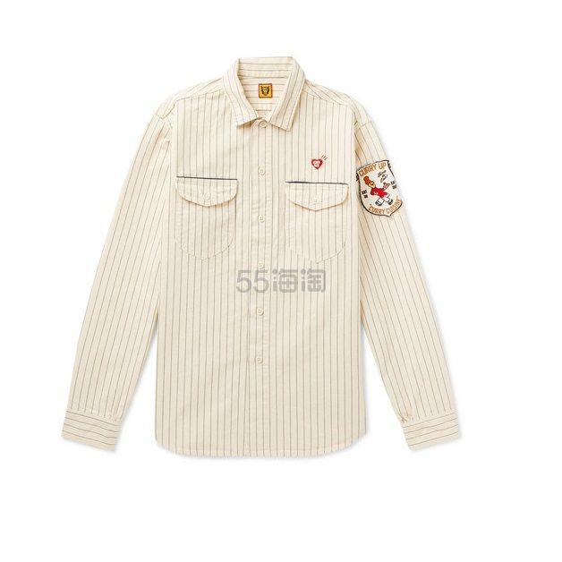 HUMAN MADE 白色条纹宽松夹克 £156(约1,365元) - 海淘优惠海淘折扣|55海淘网