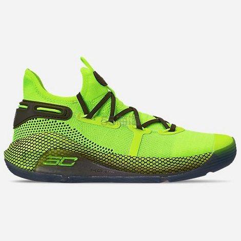 Under Armour 安德玛 Curry 6 库里6 男子篮球鞋 荧光绿 (约654元) - 海淘优惠海淘折扣|55海淘网
