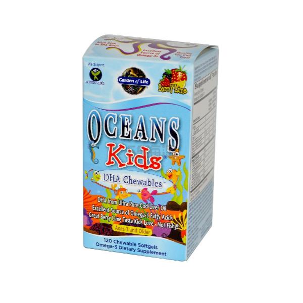 Garden of Life 儿童DHA咀嚼软胶囊 浆果柠檬味 120粒 .81(约109元) - 海淘优惠海淘折扣|55海淘网