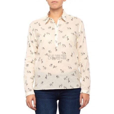 码全多款式可选~The North Face 北面 Barilles 女士印花棉质衬衫