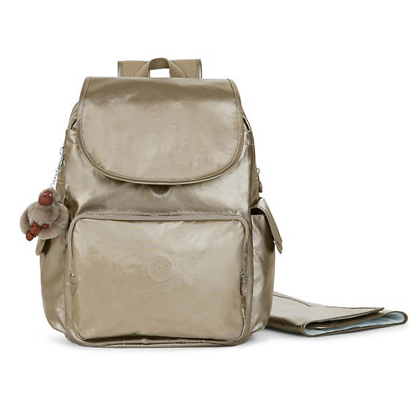 Kipling ZAX Metallic Backpack Diaper Bag 金属色双肩包
