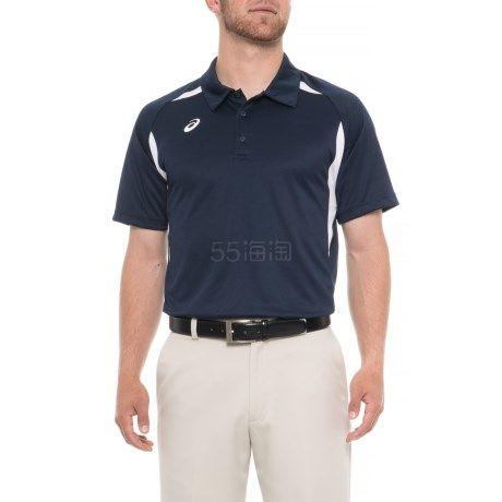 多色可选~ASICS 亚瑟士 Resolution Tennis 男士短袖 Polo 衫 (约69元) - 海淘优惠海淘折扣|55海淘网