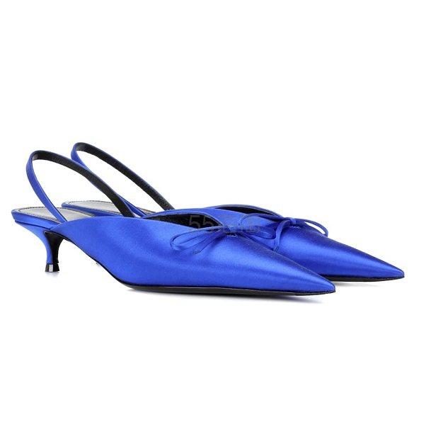 BALENCIAGA Knife l宝蓝色猫跟鞋 €324(约2,500元) - 海淘优惠海淘折扣|55海淘网