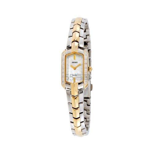 Seiko 精工 Tressia 系列 金银双色女士气质腕表 SUP358 8.05(约950元) - 海淘优惠海淘折扣|55海淘网