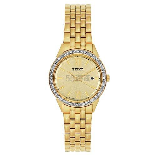 好价!Seiko 精工 Dress 系列 金色水晶女士优雅腕表 SUR688 .99(约467元) - 海淘优惠海淘折扣|55海淘网