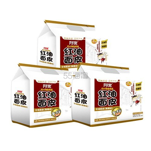 【返利10.8%】阿宽 红油面皮 超市装 3提*4包 88VIP到手价29.9元 - 海淘优惠海淘折扣|55海淘网