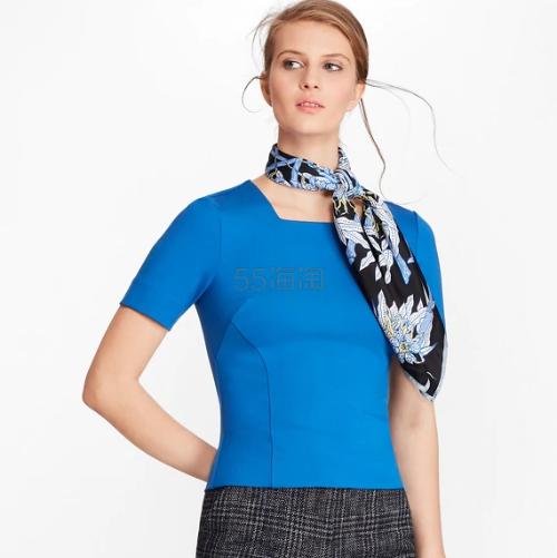 Brooks Brothers 黑蓝两色方领针织上衣 .25(约201元) - 海淘优惠海淘折扣 55海淘网