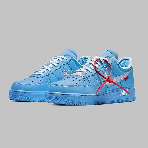 Off-White™ x Nike Air Force 1「MCA」蓝色运动鞋