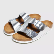 Birkenstock Arizona 银色拖鞋