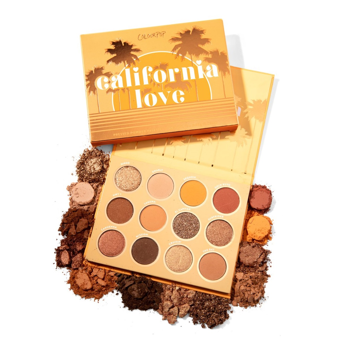 Colourpop 官网 16色眼影盘 CALIFORNIA LOVE