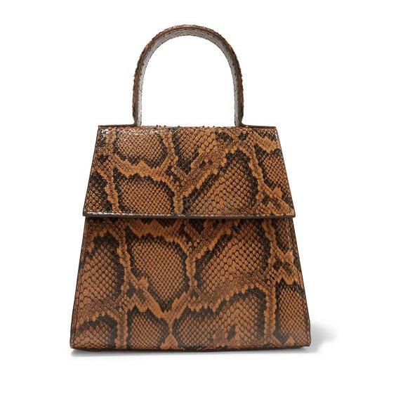 BY FAR Monet 仿蛇纹皮革手提包 £240.13(约2,047元) - 海淘优惠海淘折扣|55海淘网