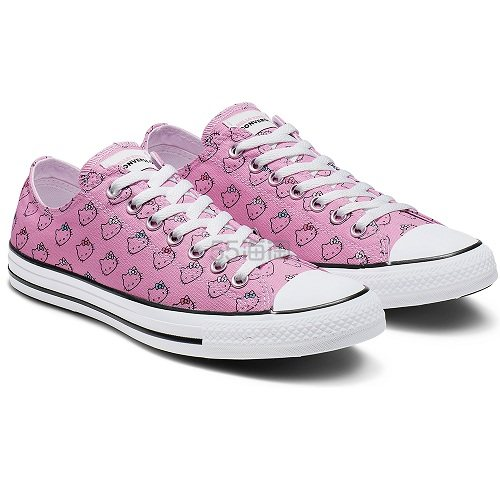 Converse 匡威 x Hello Kitty 联名款 粉色低帮帆布鞋 £14.99(约128元) - 海淘优惠海淘折扣|55海淘网