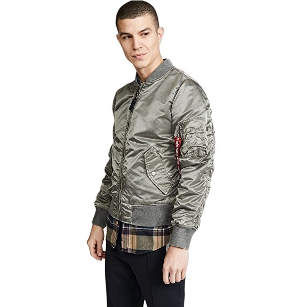 Alpha Industries 阿尔法工业 L2B Blood Chit Battlewash Flight Jacket 男士飞行服