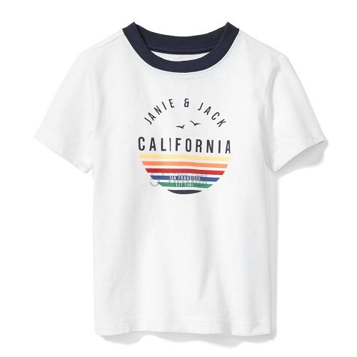 Janie and Jack 童款白色T恤衫 .99(约82元) - 海淘优惠海淘折扣|55海淘网