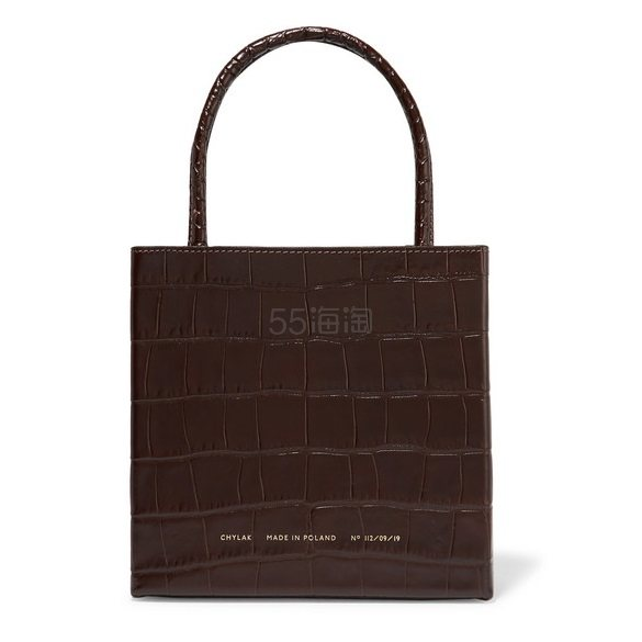 CHYLAK Square 亮面仿鳄鱼纹皮革手提包 £280(约2,392元) - 海淘优惠海淘折扣|55海淘网