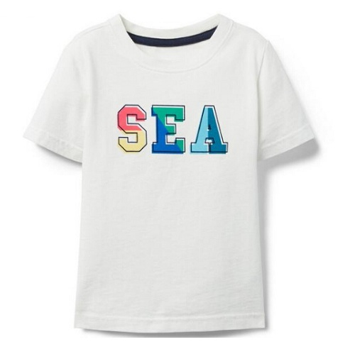 Janie and Jack SEA TEE 童款白色T恤衫