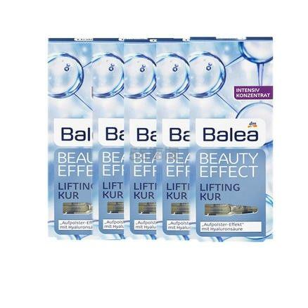 【满减5欧+免邮中国】Balea Beauty Effect 芭乐雅玻尿酸系列浓缩精华 7支*5盒 €30(约231元) - 海淘优惠海淘折扣|55海淘网