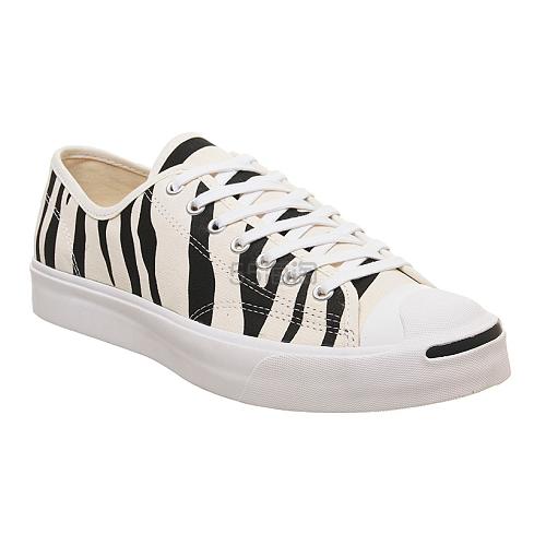 Converse Jack Purcell 斑马纹帆布鞋 (约564元) - 海淘优惠海淘折扣|55海淘网