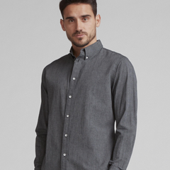 低至4折!Rag & Bone Fit 2 Tomlin Shirt 灰色修身衬衫