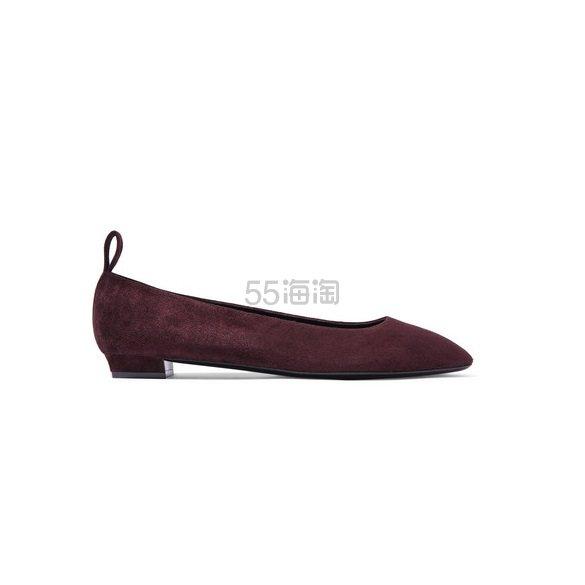 THE ROW Lady D 绒面革芭蕾平底鞋 £250(约2,154元) - 海淘优惠海淘折扣|55海淘网
