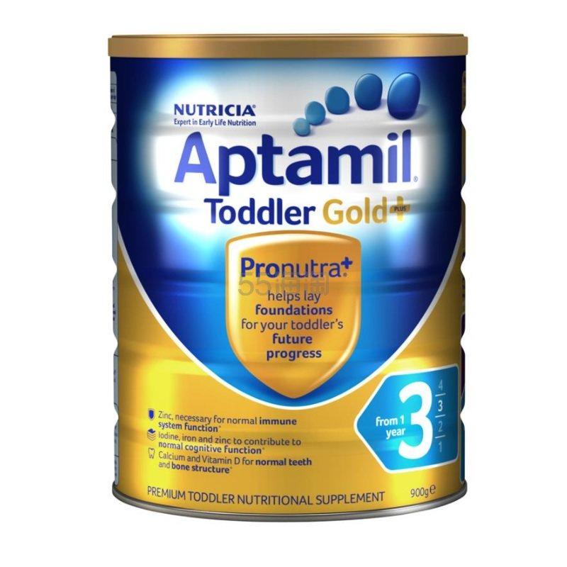 【55专享】Aptamil 澳洲爱他美 金装加强型婴幼儿配方奶粉 3段 1岁+ 900g 20.49澳币(约99元) - 海淘优惠海淘折扣|55海淘网