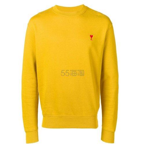 AMI ALEXANDRE MATTIUSSI 男士黄色卫衣 港币960(约845元) - 海淘优惠海淘折扣|55海淘网