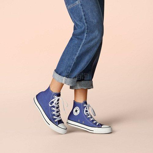 5.6折!Converse 匡威 All Star 蓝色高帮帆布鞋 (约172元) - 海淘优惠海淘折扣|55海淘网