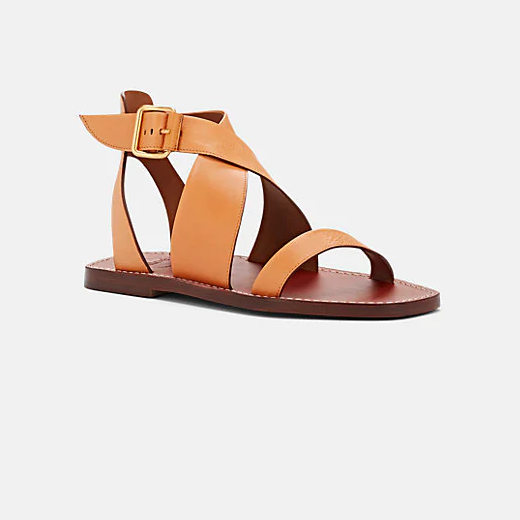 CHLOÉ Crisscross-Strap Leather Sandals 皮革凉鞋