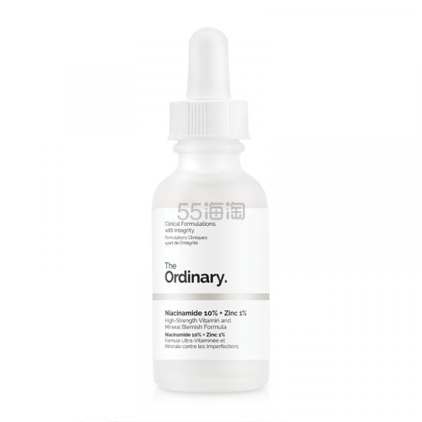 The Ordinary 10%烟酰胺 + 1%锌精华 30ml £5(约43元) - 海淘优惠海淘折扣|55海淘网