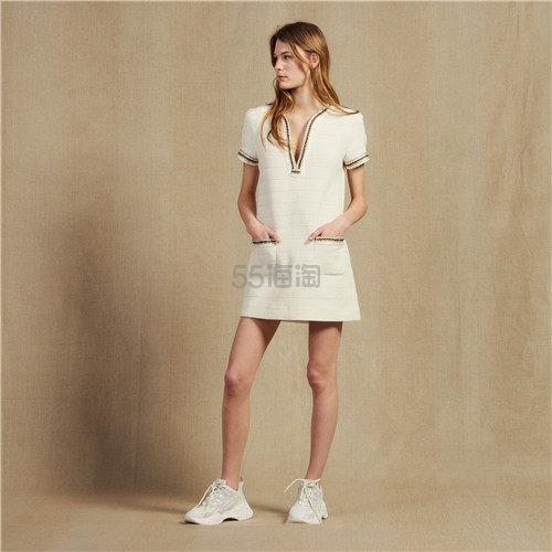 Sandro 优雅风 V 领口袋连衣裙 5(约1,478元) - 海淘优惠海淘折扣|55海淘网