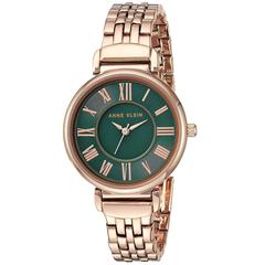 近期低价!【中亚Prime会员】Anne Klein 安妮克莱因 AK/2158GNRG 女士墨绿色时装腕表