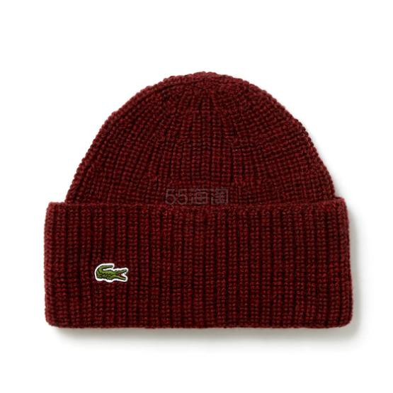 Lacoste Turned Edge Ribbed Wool Beanie 男士毛线帽 .99(约145元) - 海淘优惠海淘折扣|55海淘网