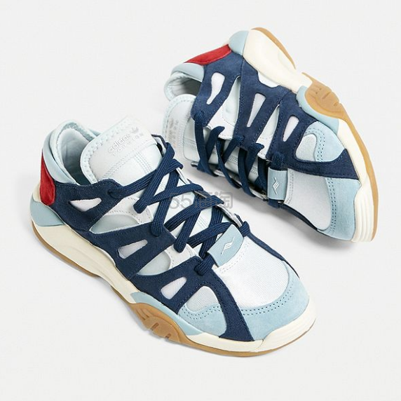 adidas Originals 阿迪达斯三叶草 Dimension Low Blue Trainers 跑步训练鞋