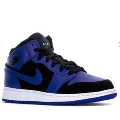 Air Jordan 乔丹 1 Mid 小黑紫 大童款篮球鞋 US7码