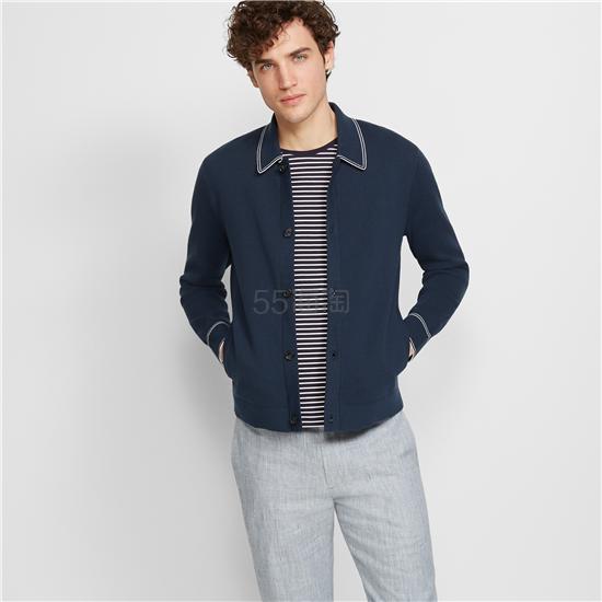 Club Monaco 翻领设计男士毛衣外套 9(约957元) - 海淘优惠海淘折扣|55海淘网