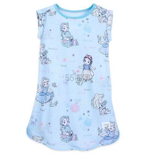 2件及以上每件!Disney 迪士尼 女孩蓝色白雪公主睡衣 (约103元) - 海淘优惠海淘折扣 55海淘网