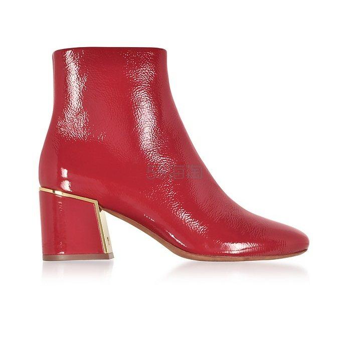 Tory Burch Dark Redstone Juliana Booties 漆皮皮靴 €237.2(约1,817元) - 海淘优惠海淘折扣|55海淘网