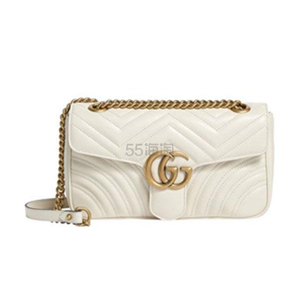Gucci Small Marmont Matelassé 白色纹理感单肩包 ,429.99(约9,863元) - 海淘优惠海淘折扣|55海淘网