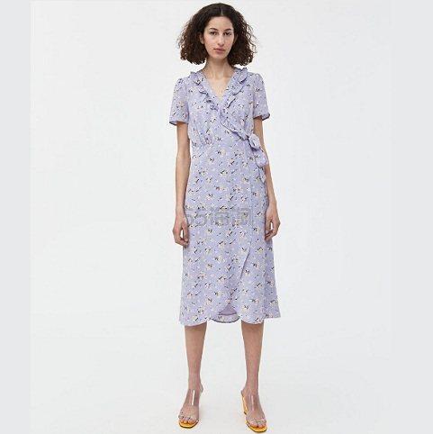 Farrow Adrienne Floral 印花裹身裙 .99(约332元) - 海淘优惠海淘折扣|55海淘网
