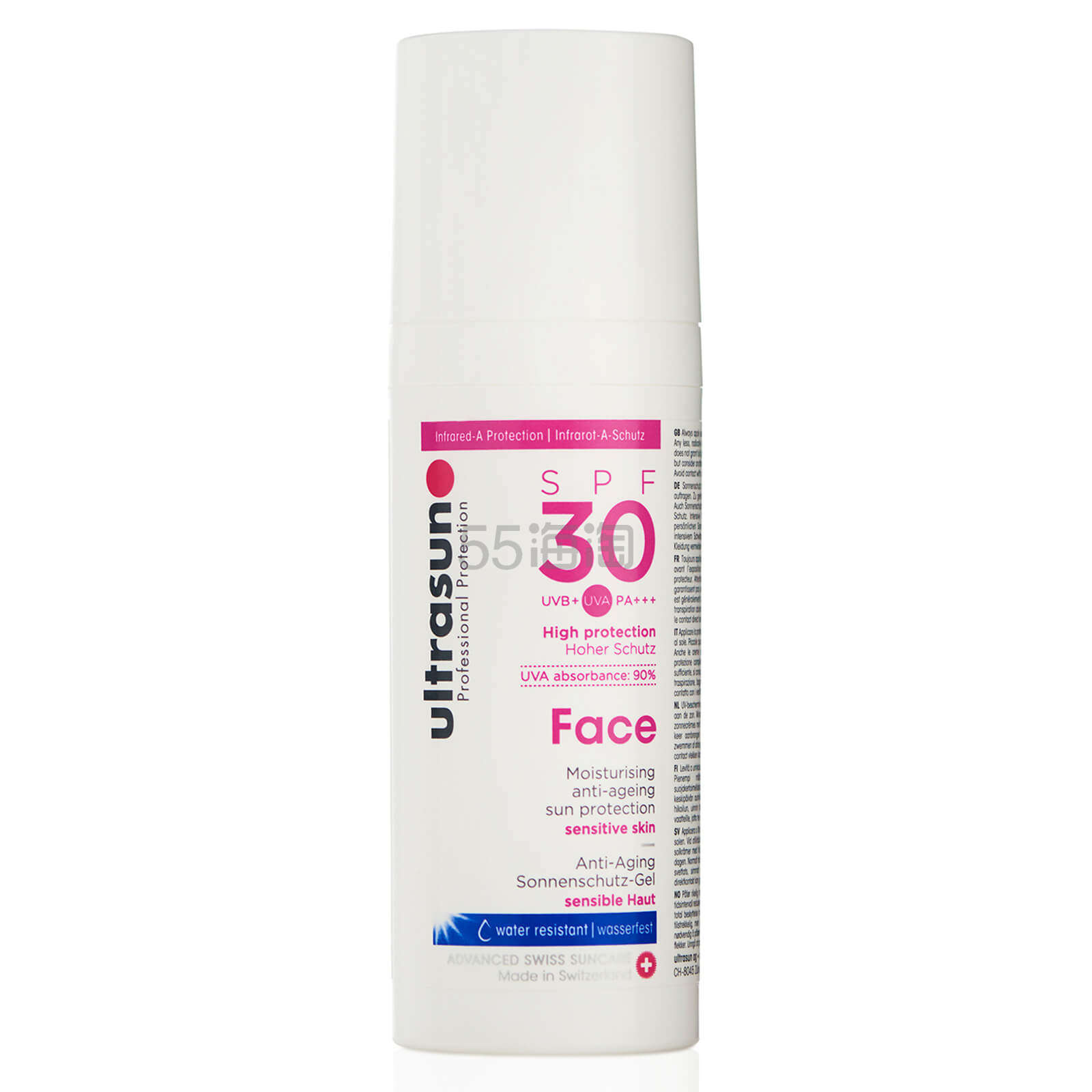 Ultrasun 面部防晒霜 SPF30 50ml £15.4(约132元) - 海淘优惠海淘折扣|55海淘网