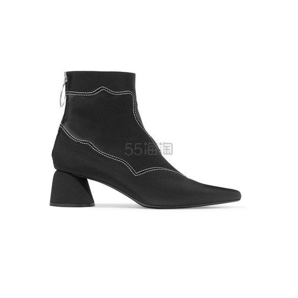 ELLERY 刺绣弹力罗缎缎布踝靴 8(约1,680元) - 海淘优惠海淘折扣|55海淘网