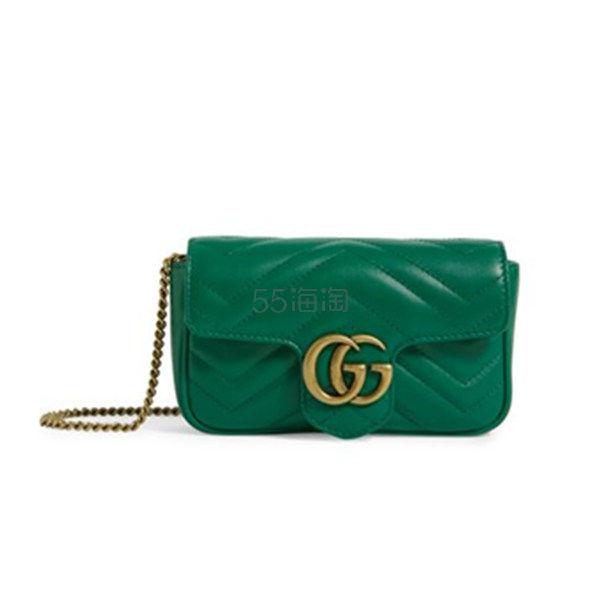 【澳门定价 加邮费到手价】Gucci Super Mini Matelassé Marmont 新季绿色单肩包 ¥5,212.69 - 海淘优惠海淘折扣|55海淘网