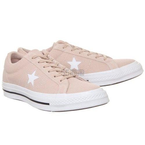 黄金码还有!Converse 匡威 One Star 裸粉色低帮鞋 £30(约257元) - 海淘优惠海淘折扣|55海淘网