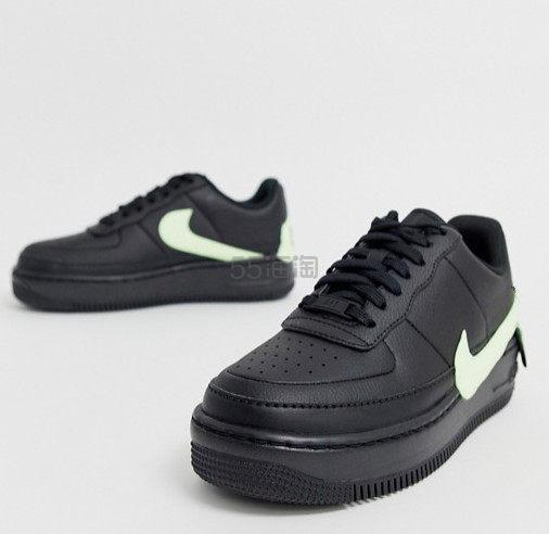 Nike 耐克空军1号 黑色底色绿色 swoosh 运动鞋 £85(约727元) - 海淘优惠海淘折扣|55海淘网