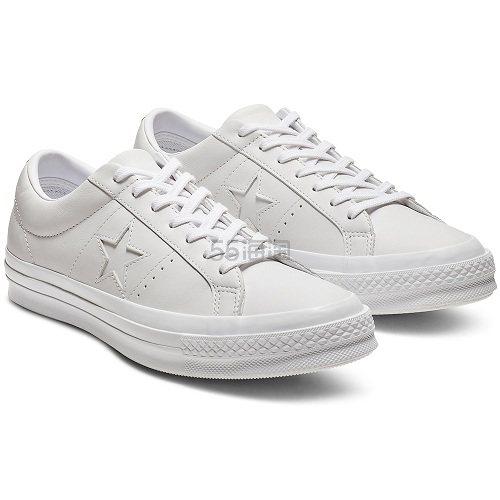 Converse 匡威 One Star 白色皮面低帮鞋 £39(约331元) - 海淘优惠海淘折扣|55海淘网