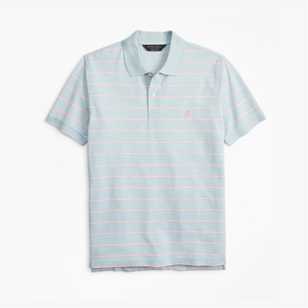 Brooks Brothers Original 男士清新条纹 Polo 短袖衫