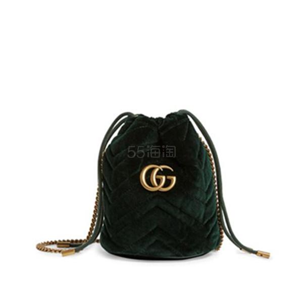 【澳门定价低】Gucci Mini Velvet GG Marmont 丝绒水桶包 港币5,485.22(约4,933元) - 海淘优惠海淘折扣 55海淘网