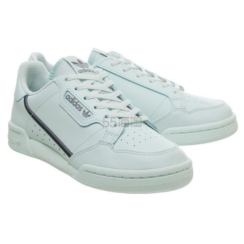 Adidas 三叶草 Continental 80s 薄荷浅绿色运动鞋 £30(约256元) - 海淘优惠海淘折扣|55海淘网